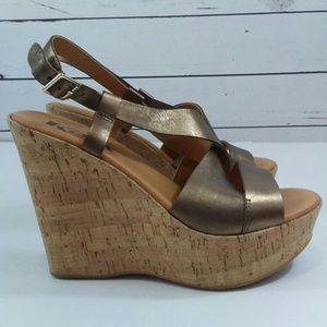 Korks by kork-ease cork wedge sandals